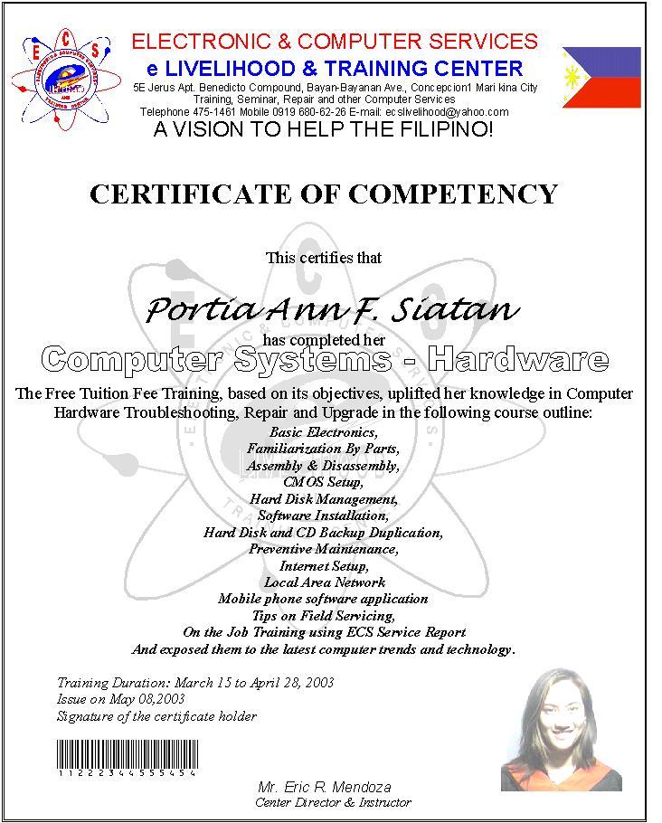 Sample Certificate Of Attendance Template